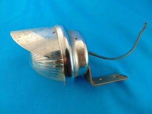 Working 6 Volt Auto Lamp Model 666 Chicago Glass Lens Reverse Utility Vintage