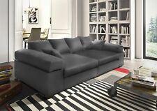 Big Sofa Couchgarnitur Megasofa Riesensofa AREZZO -Kunstleder Anthrazit