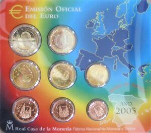 ESX2003.1 - SERIE BU EUROS ESPAGNE - 2003 - 1 cent à 2 euros