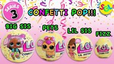Genuine lol l.o.l. sorpresa Confeti Pop, Mascotas, Lil Sis y Fizz serie 3 Paquete