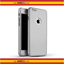 "360 Funda Carcasa Case + Protector Cristal Templado Para iPhone 6 6s 4.7"" Plata"