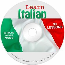 Learn To Speak Basic Italian Language Audio MP3 + EBook Lessons PDF on CD
