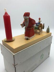 Vintage Straco Erzgebirge Figuren Weihnachtsmann im orig. Karton unbespielt 1A
