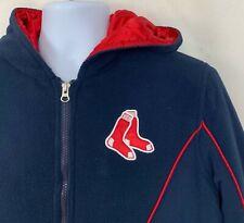Boston Red Sox Genuine Merchandise Womens Fleece Coat MLB Jacket Blue Red GIII M