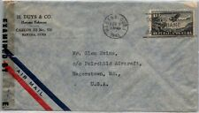 GP GOLDPATH: CARIBBEAN COUNTRY COVER 1945 AIR MAIL _CV570_P23