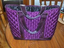 Marc Jacobs Tote Bag Quilted Purple Flawed Handles Shopper Travel Eco Carry On
