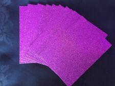 10 x Glitter Card Sheets-A6/C6 250gsm Card colour Magenta Purple14.8 x 10.5cm
