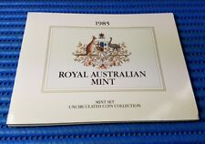 1985 Australia Uncirculated Coin Collection: 1, 2, 5, 10, 20, 50 Cents & $1 Coin