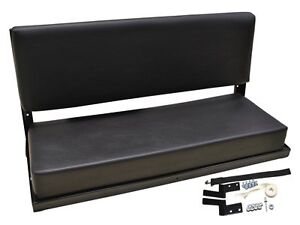 DEFENDER 109 110 3 PERSON FOLDING REAR BENCH SEAT WITH FITTINGS BLACK-da3059