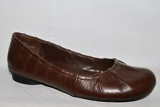 ME TOO NEWLYN SZ 6 M BROWN LEATHER BALLET FLATS SHOES EXCELLENT