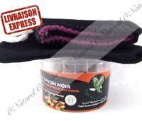 Savon Noir Huile d'Argan BIO 100% Pur 250g + Gant Kessa Black Soap, Jabon Negro