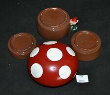 ThriftCHI ~ Decorative Red Ware Measuring Cups Mushroom Elf Design