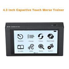 "4.3"" Touch Screen Morse Code Telegraph Short Wave Radio Automatic Key Portable"