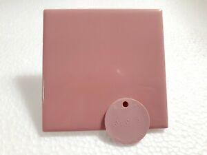 Vintage Pink Ceramic Tile 4.25 in Square 4x4 inch Daltile Color Q095 Carnation