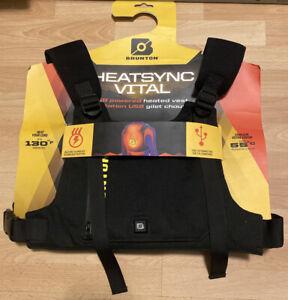Brunton HeatSync Vital Under Jacket USB Warmer New Black Outdoor 2.1