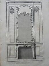GRAVURE XVIIIéme ORNEMENT ARCHITECTURE DECORATION cheminée moderne tableau