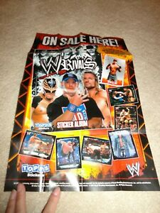 """2009 WWE Topps Stickers Promo Poster 16"""" x 10 1/2"""" from box Cena"""
