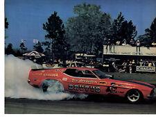 1973 MUSTANG FUNNY CAR - LEW ARRINGTON ~ ORIGINAL MAGAZINE PHOTO / PICTURE / AD