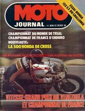 MOTO JOURNAL  308 Road Test HONDA 125 S3 RC 500 M Grand Prix Vénézuela 1977