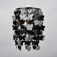 Modern Black Hearts & Butterflies Ceiling Pendant Light Lamp Shade Chandelier