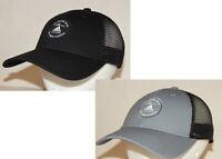 Adidas Mens Reaction Trucker Hat / Cap Snapback Black/Black Grey/Black 3 Stripes