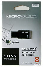 SONY 8 GB USB 2.0 Micro Vault Tiny USB Flash Drive KEY 8G Black White Pink Green