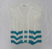 Roxy Women Small  Top White Crochet Gaia Cardigan Top