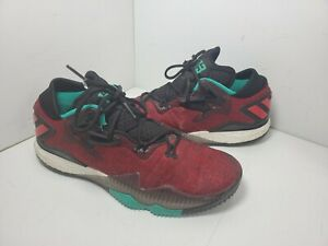 ADIDAS CRAZYLIGHT BOOST LOW Sneakers Men's 11 M Red Turquoise Shoes AQ7761