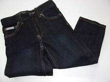 NWT Girls $32 Calvin Klein Black Slim Fit Straight Leg Denim Jeans Size 4 ~CUTE!