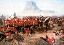 Battle of Isandlwana Canvas Wall Art Poster Print Zulu Rorkes Drift War Scene