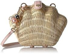 Purse Betsey Johnson Shell Straw Wicker Crossbody Cute Magnetic Snap NEW