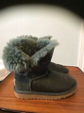 little girls ugg boots size 10 green fur lined