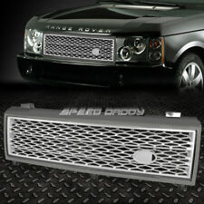 FOR 03-05 RANGE ROVER HSE GREY FRONT UPPER BUMPER SILVER MESH GRILLE GUARD COVER