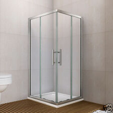 800x800mm Sliding Door Shower Enclosure Walk In Corner Entry Cubicle Screen S02