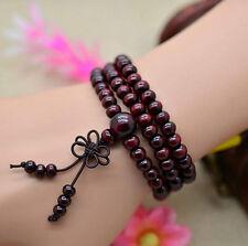 New Handmade Sandalwood Buddhist Buddha Meditation 6mm 108 Prayer Bead Bracelet