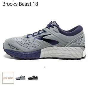 Brooks Men's Beast 18 Grey/Navy Running Shoe sz 13