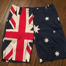 LOUDMOUTH Ladies Sz 0 Australian Flag Golf Shorts