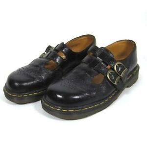 Dr Martens Double Strap Mary Janes 8065 Black Leather US Women's Size 9