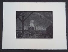 Richard Gessner Vorstadt Düsseldorf Radierung 1919 handsigniert
