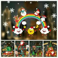 Christmas Static Cling Glass Stickers Wall Decals Xmas Tree Window Decor Crafts