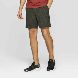Champion C9 Men's Duo Dry Brown Twill Stretch Reflective Running Shorts New
