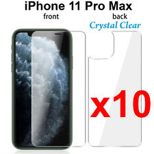 x10 Anti-scratch 4H PET film screen protector Apple iphone 11 PRO MAX Front Back