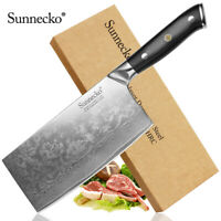 Classic Cleaver Chopping Knives Razor Sharp Damascus Steel Vegetable Slicing Cut