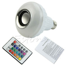 Colorful LED Music Bluetooth Audio Speaker Light Bulb 6W E27 100-240V Hot Sale