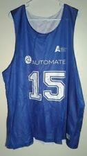 Blue Jersey Unisex 3 Xl Automate # 15 Basketball Jersey 3 Xl J