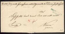 ÖSTERREICH 1850 DIENSTBRIEF von BOEH LEIPPA nach VERONA(D0910