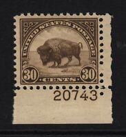 1931 American Buffalo MH Sc 700 RARE plate number Hebert CV $50