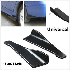 2x Car Bumper Spoiler Rear Lip/Side Skirt Extension Splitters Winglet Wing +Bolt
