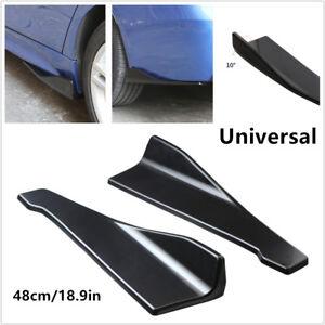 2x Car Bumper Spoiler Rear Lip/Side Skirt Extension Splitters Winglet Wing +Bolt