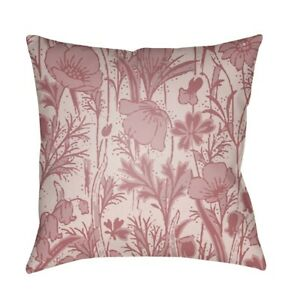Chinoiserie Floral by Surya Pillow, Pale Pink/Rose/Blush, 20' x 20' - CF029-2020